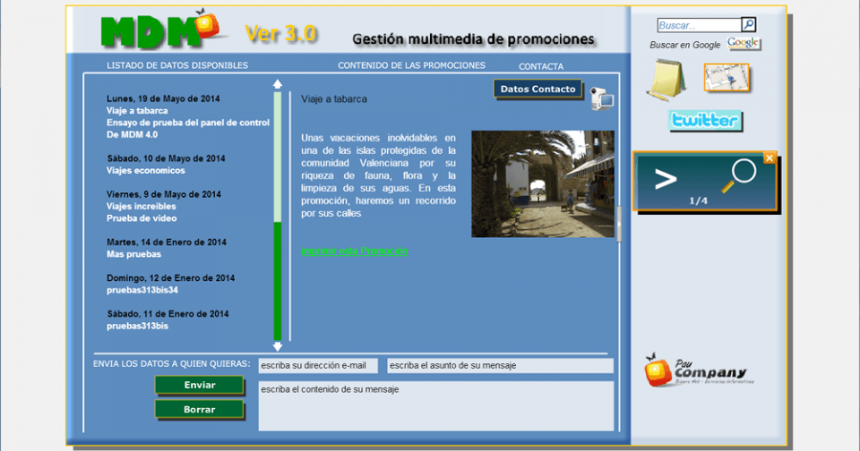 MDM 3.o Gestor de promociones Multimedia