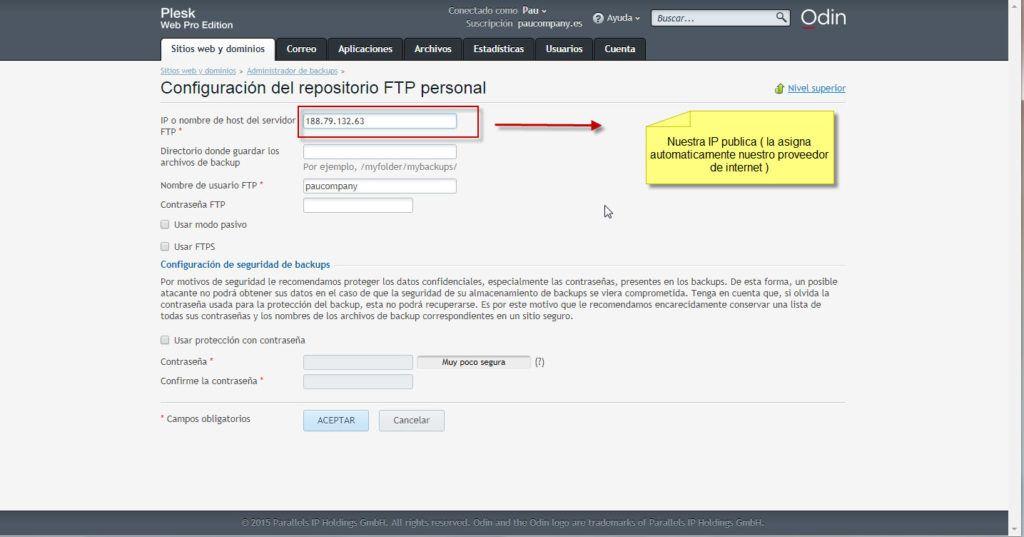 Configurar ip publica paso 3º